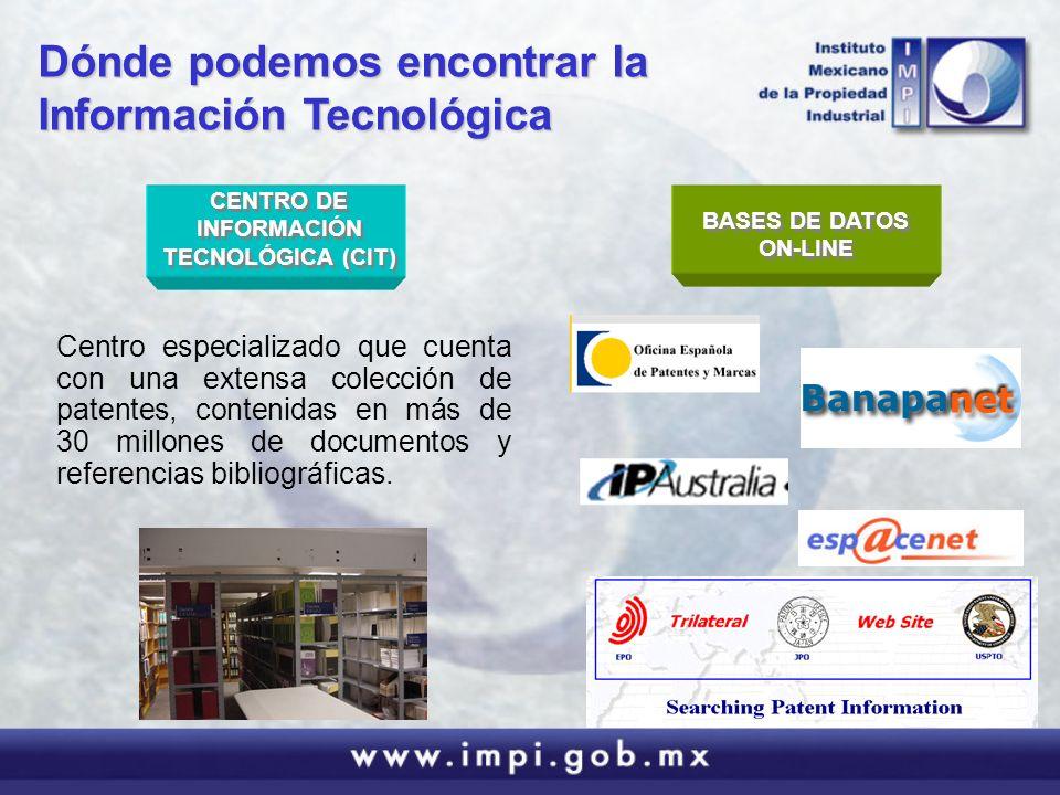 CENTRO DE INFORMACIÓN TECNOLÓGICA (CIT)