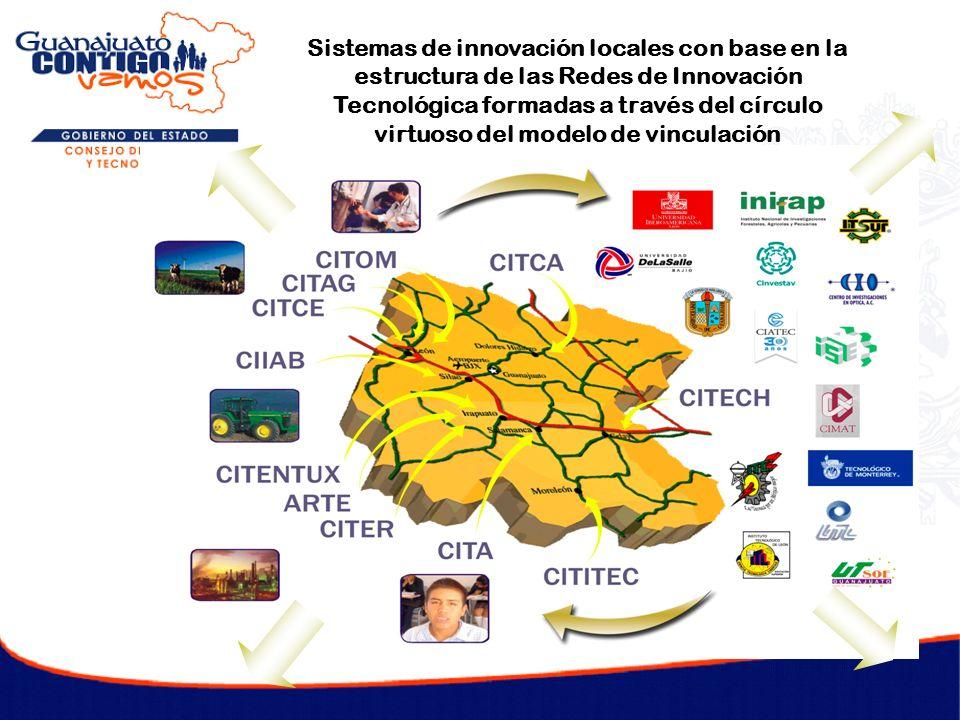 Sistemas de innovación locales con base en la estructura de las Redes de Innovación Tecnológica formadas a través del círculo virtuoso del modelo de vinculación