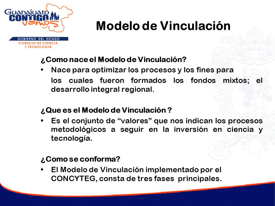 Modelo de Vinculación ¿Como nace el Modelo de Vinculación