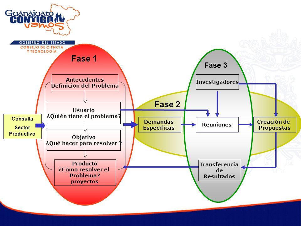 Fase 1 Fase 2 Fase 3 Antecedentes Definición del Problema Usuario