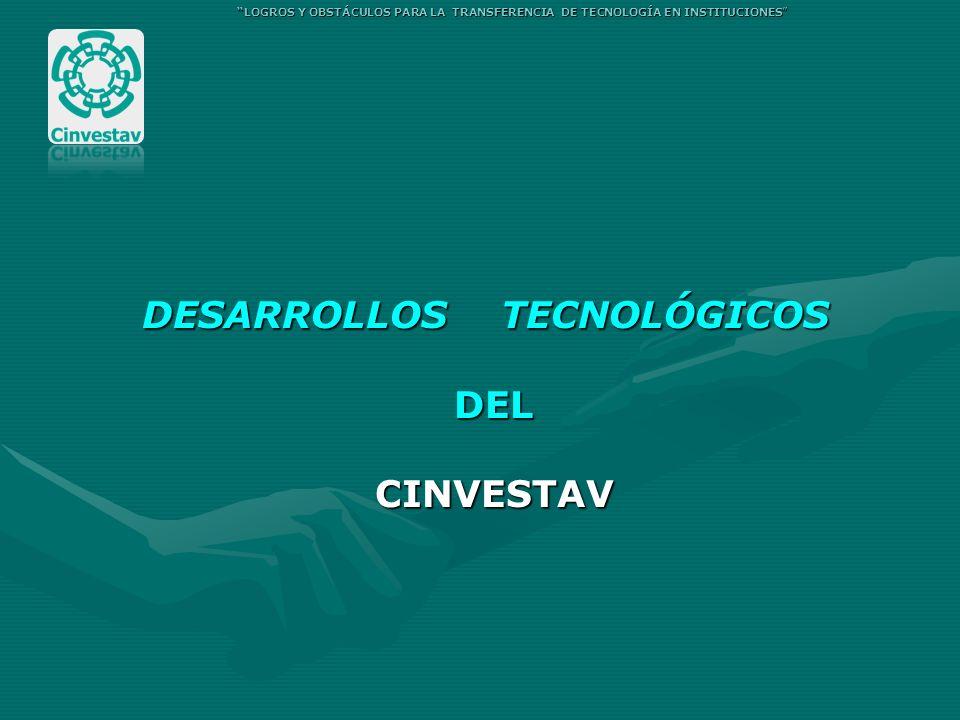 DESARROLLOS TECNOLÓGICOS