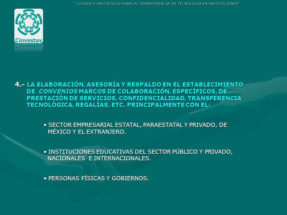 4.- LA ELABORACIÓN, ASESORÍA Y RESPALDO EN EL ESTABLECIMIENTO