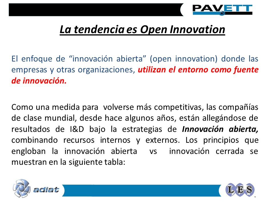 La tendencia es Open Innovation