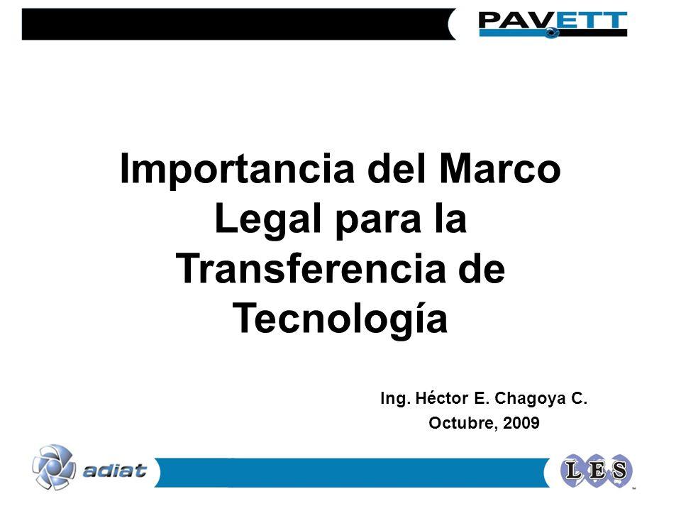 Importancia del Marco Legal para la Transferencia de Tecnología