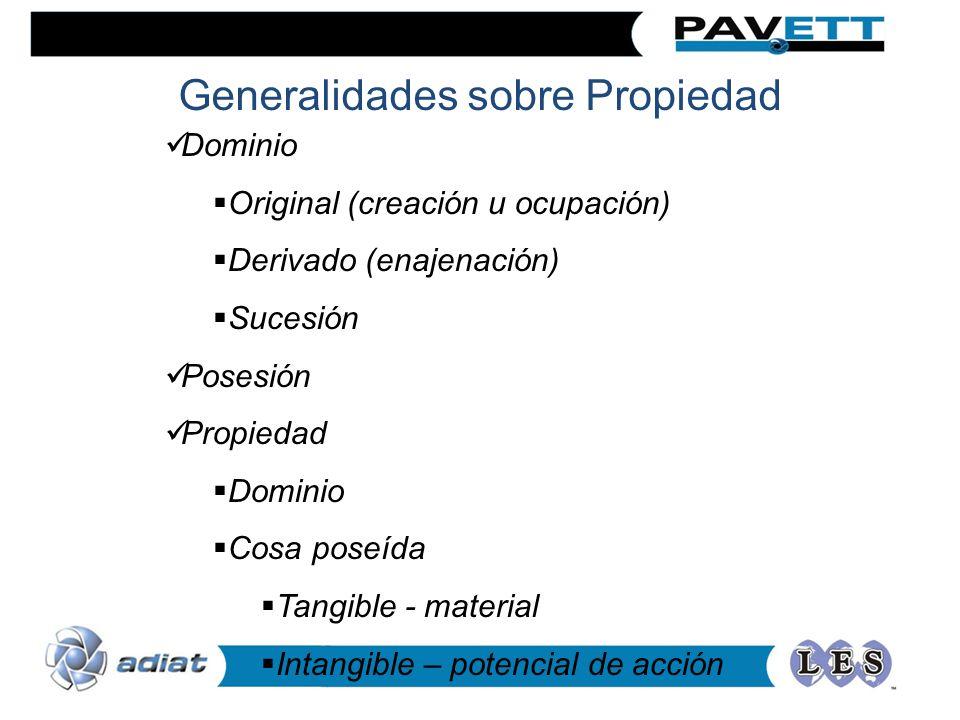 Generalidades sobre Propiedad