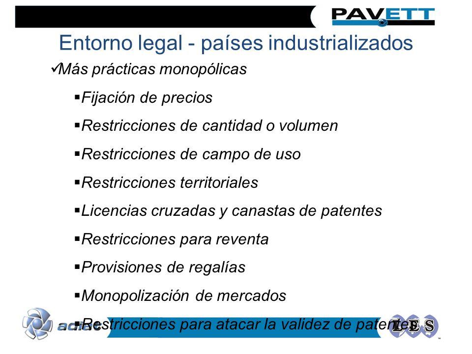 Entorno legal - países industrializados