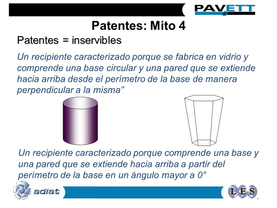 Patentes: Mito 4 Patentes = inservibles