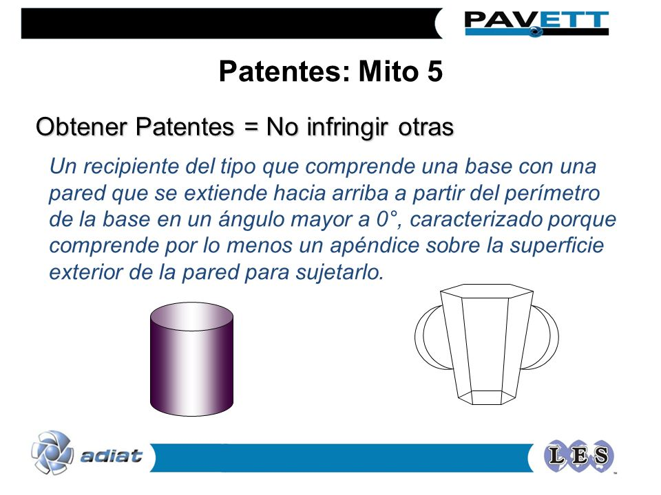 Patentes: Mito 5 Obtener Patentes = No infringir otras