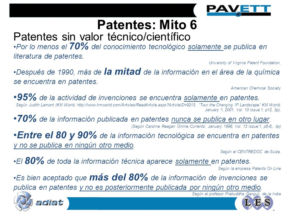 Patentes sin valor técnico/científico