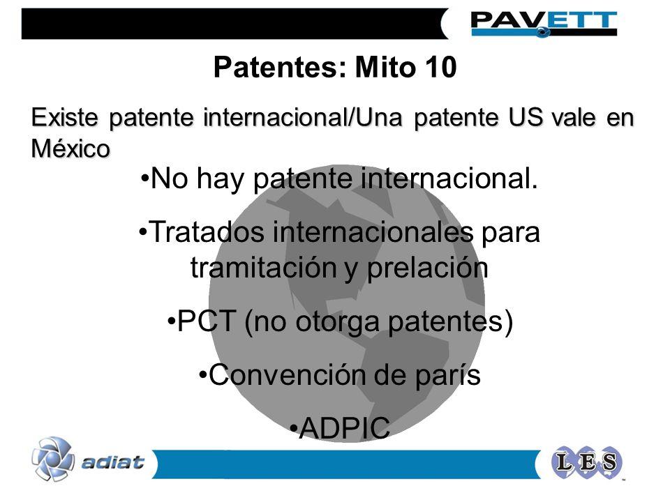 No hay patente internacional.