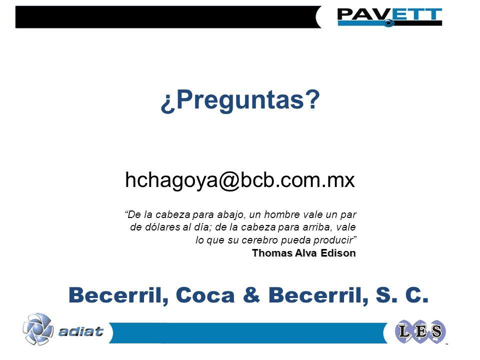 Becerril, Coca & Becerril, S. C.