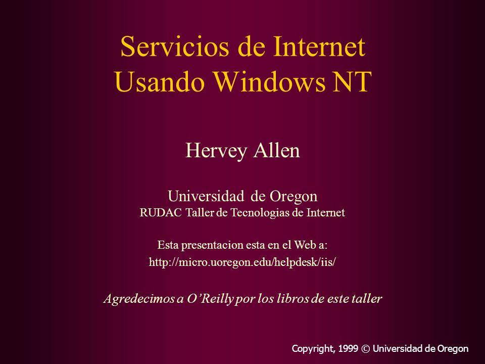 Servicios de Internet Usando Windows NT