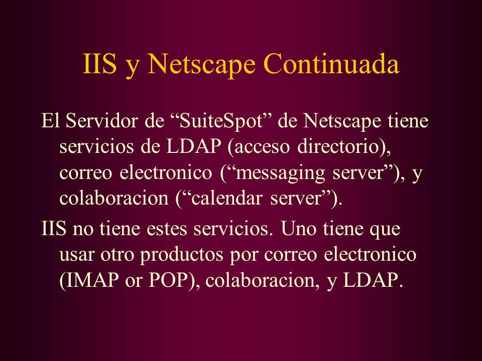 IIS y Netscape Continuada