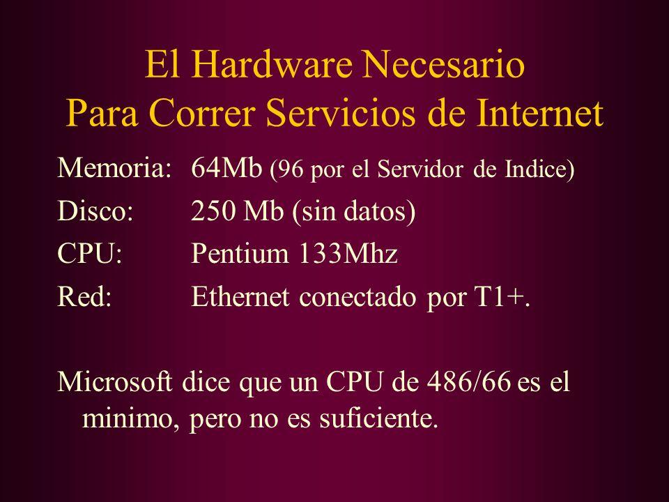 El Hardware Necesario Para Correr Servicios de Internet