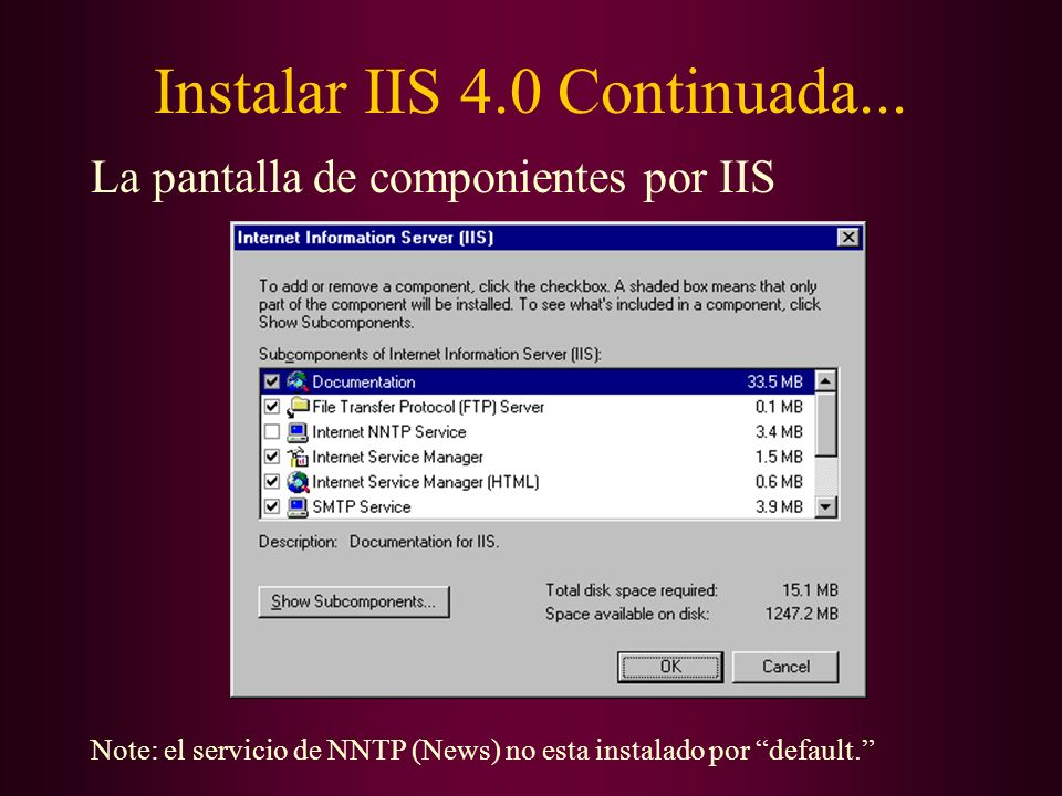 Instalar IIS 4.0 Continuada...