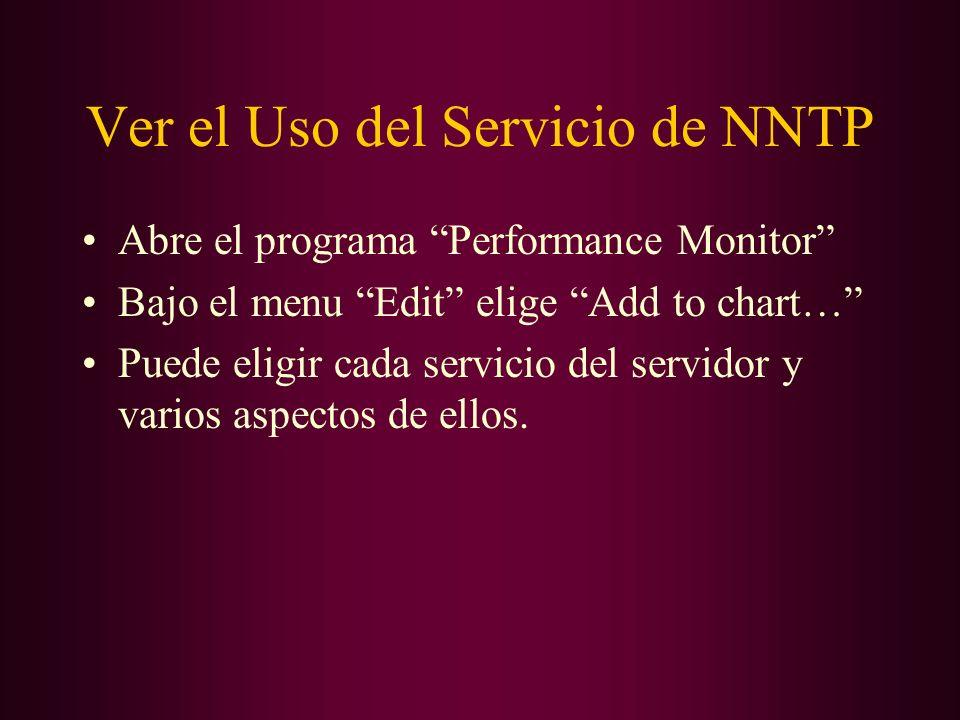 Ver el Uso del Servicio de NNTP