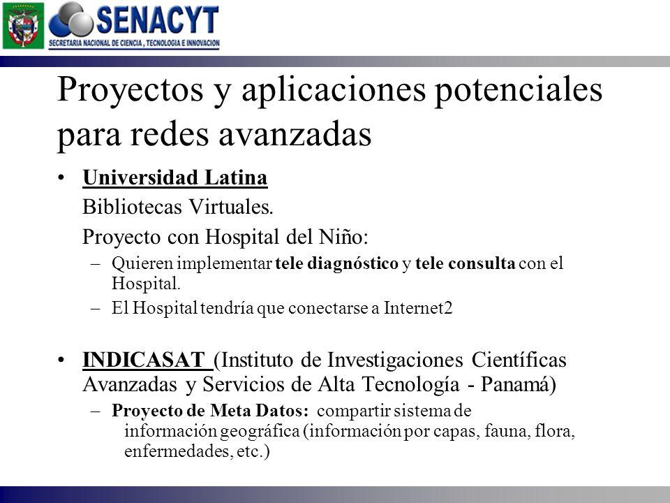 Proyectos y aplicaciones potenciales para redes avanzadas