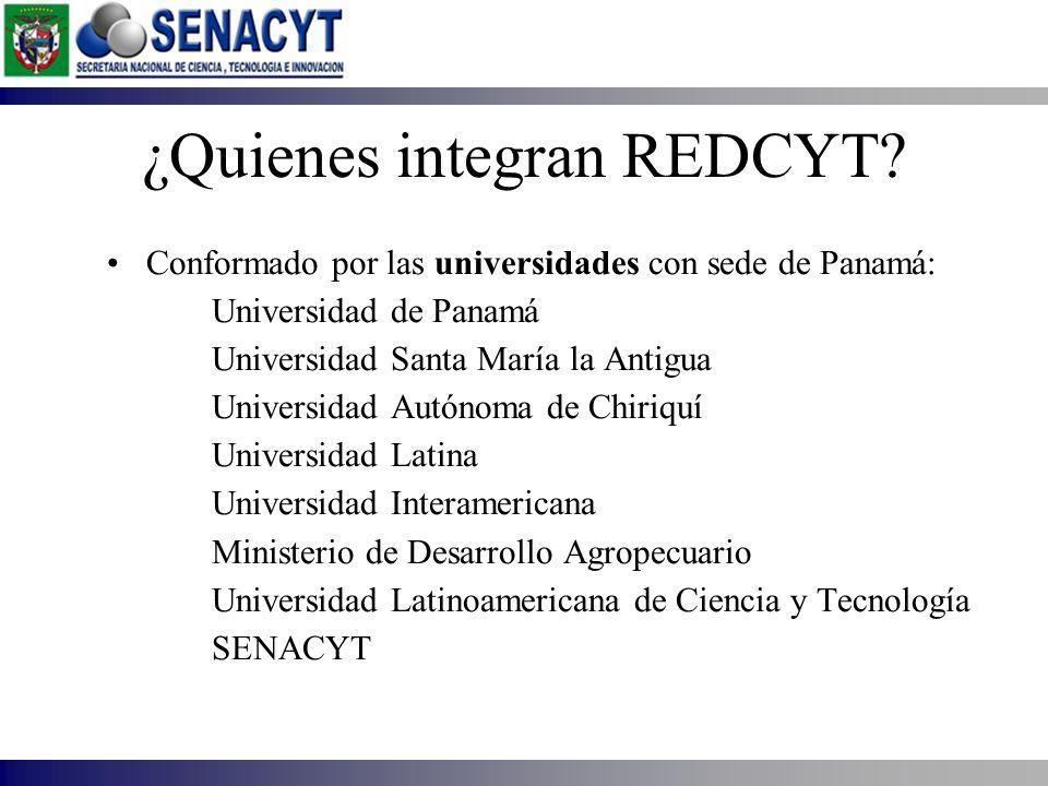 ¿Quienes integran REDCYT