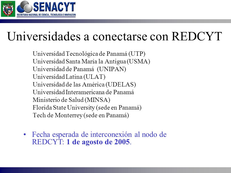 Universidades a conectarse con REDCYT