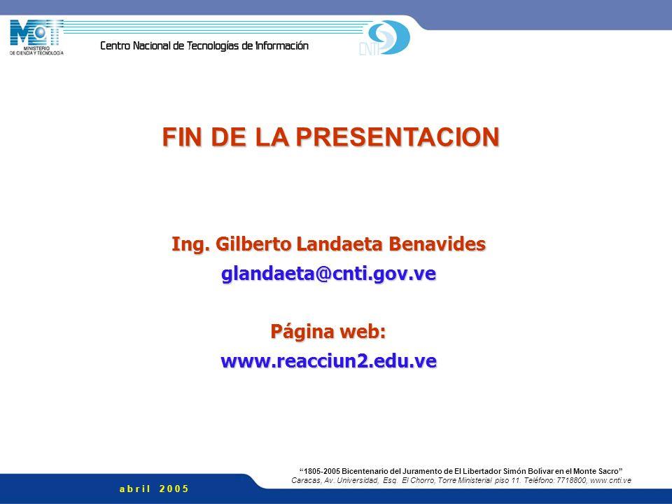 Ing. Gilberto Landaeta Benavides