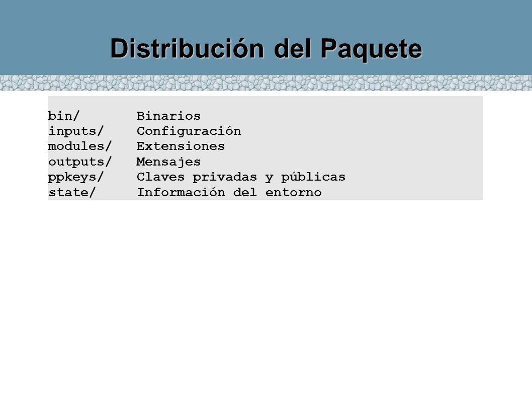 Distribución del Paquete