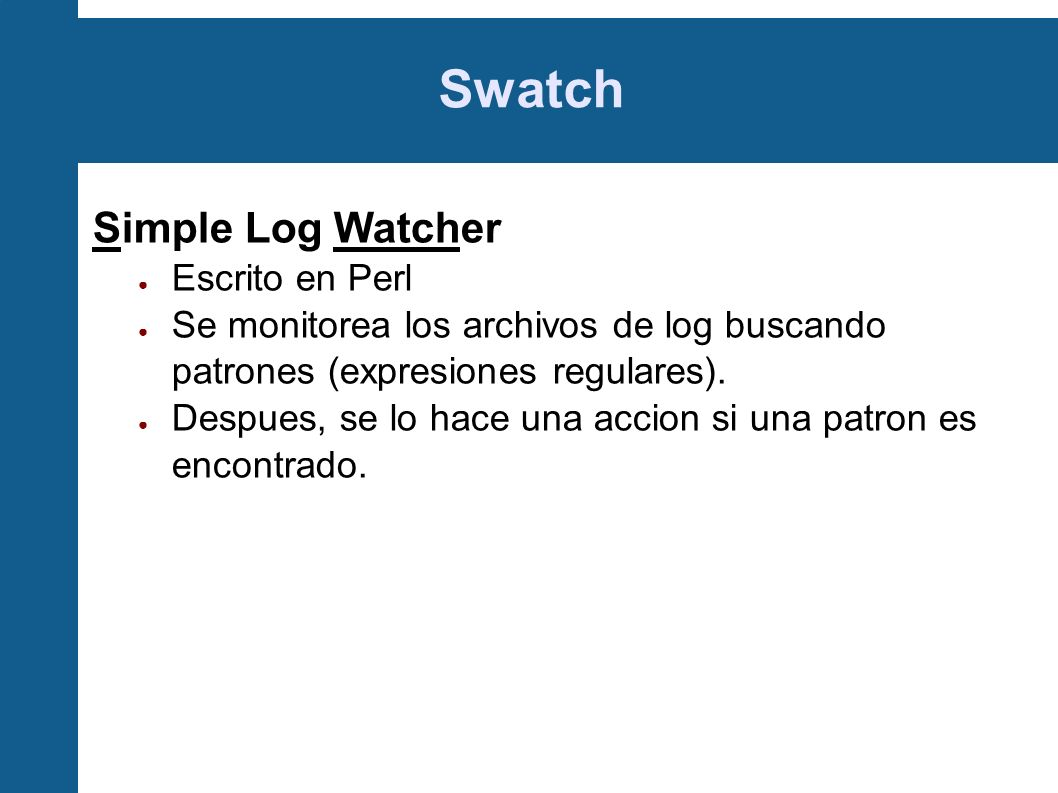 Swatch Simple Log Watcher Escrito en Perl