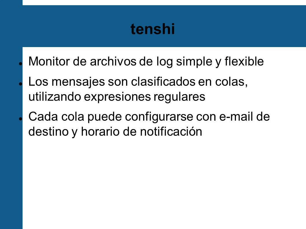 tenshi Monitor de archivos de log simple y flexible