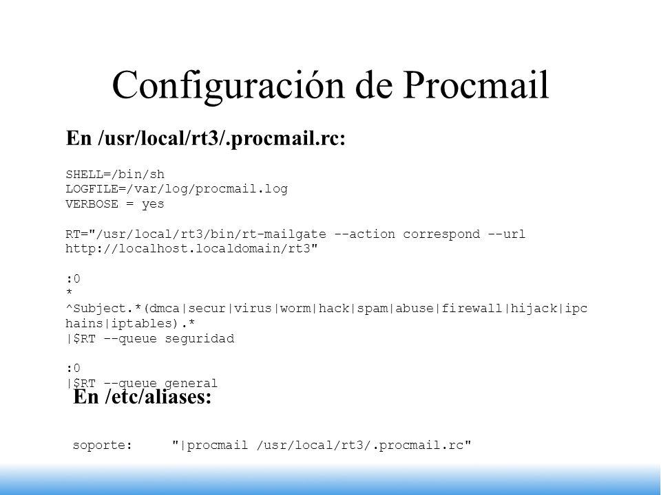 Configuración de Procmail