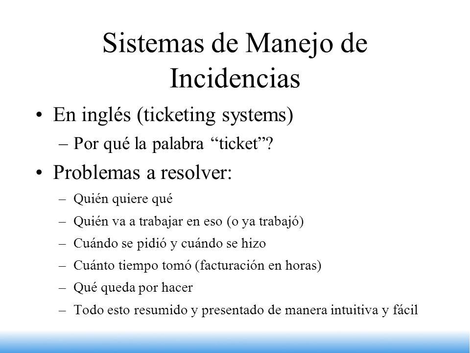 Sistemas de Manejo de Incidencias
