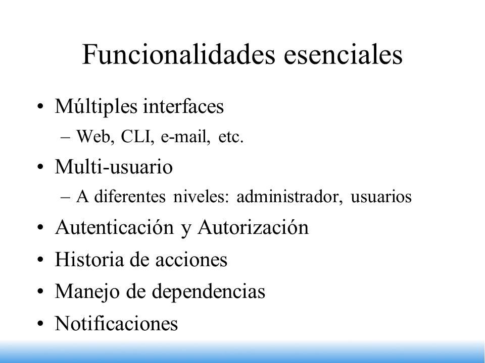 Funcionalidades esenciales