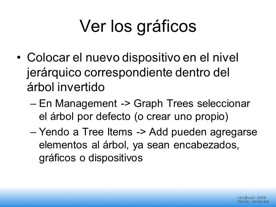 Ver los gráficos Colocar el nuevo dispositivo en el nivel jerárquico correspondiente dentro del árbol invertido.