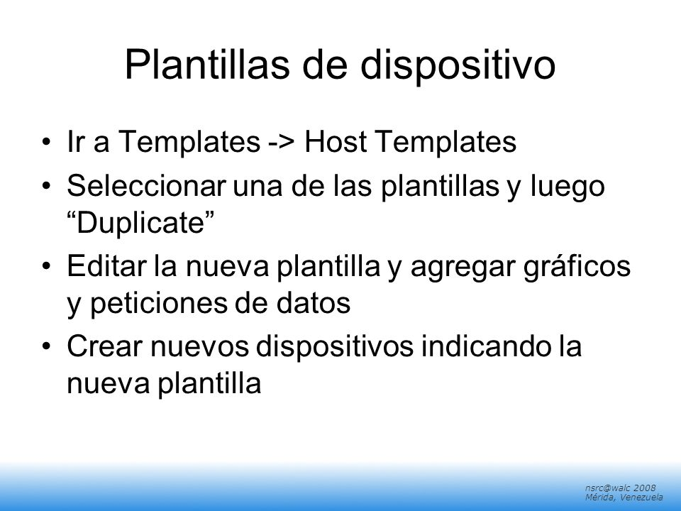 Plantillas de dispositivo