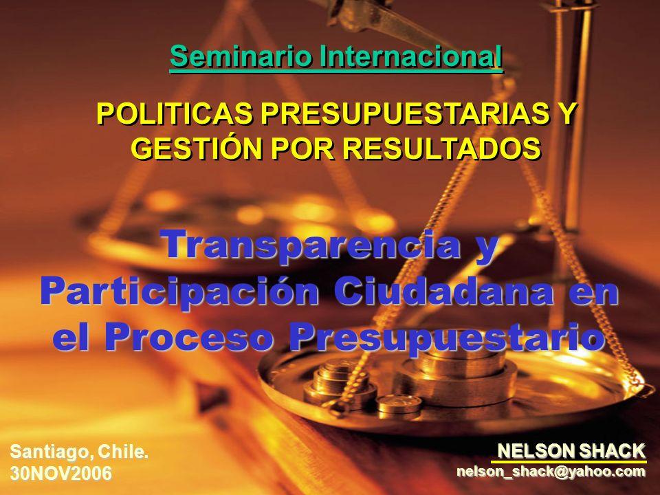 Transparencia y Participación Ciudadana en el Proceso Presupuestario