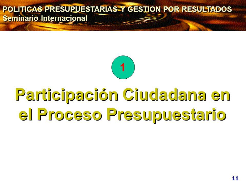 Participación Ciudadana en el Proceso Presupuestario