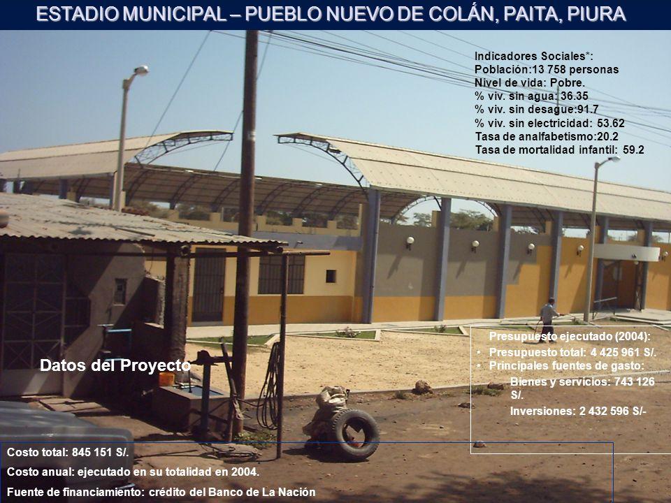 ESTADIO MUNICIPAL – PUEBLO NUEVO DE COLÁN, PAITA, PIURA