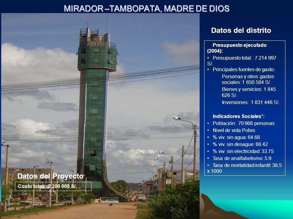 MIRADOR –TAMBOPATA, MADRE DE DIOS