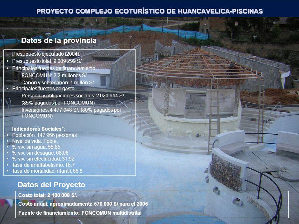 PROYECTO COMPLEJO ECOTURÍSTICO DE HUANCAVELICA-PISCINAS