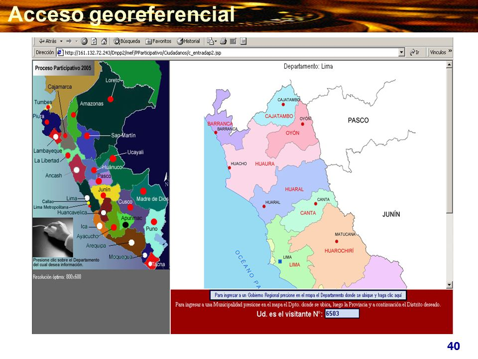 Acceso georeferencial
