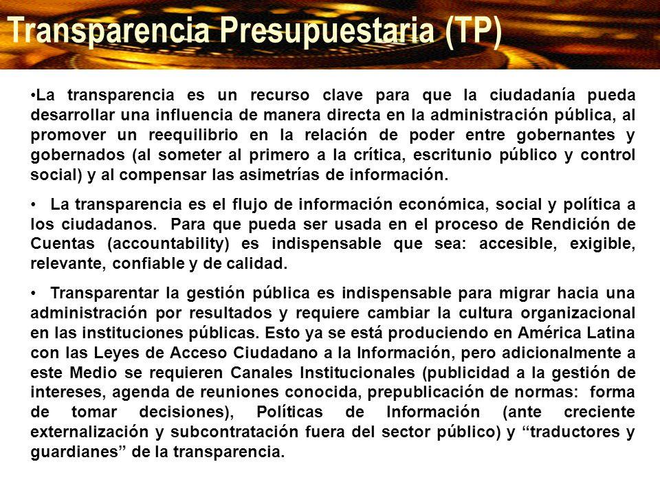 Transparencia Presupuestaria (TP)
