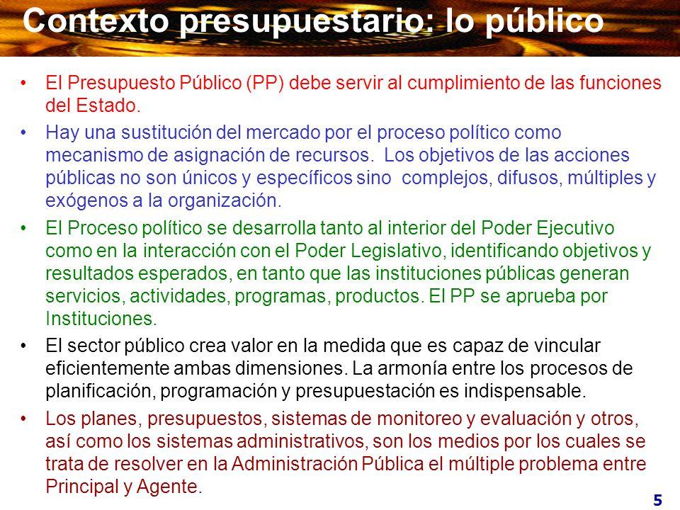 Contexto presupuestario: lo público