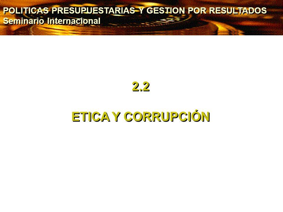 POLITICAS PRESUPUESTARIAS Y GESTION POR RESULTADOS