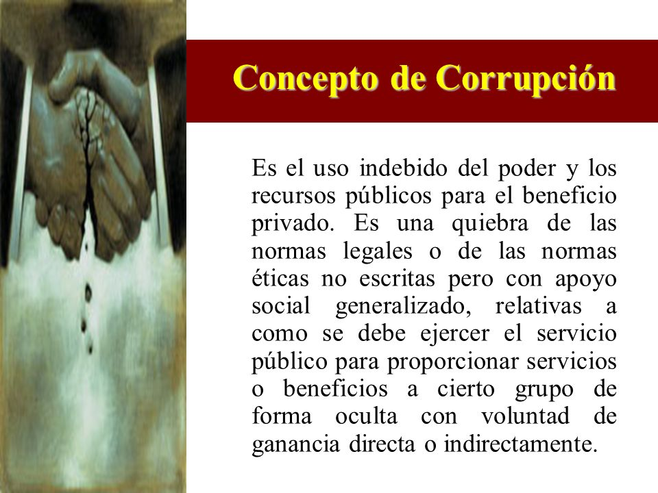 Concepto de Corrupción