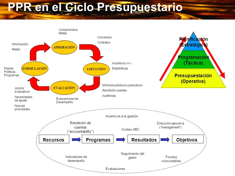 PPR en el Ciclo Presupuestario