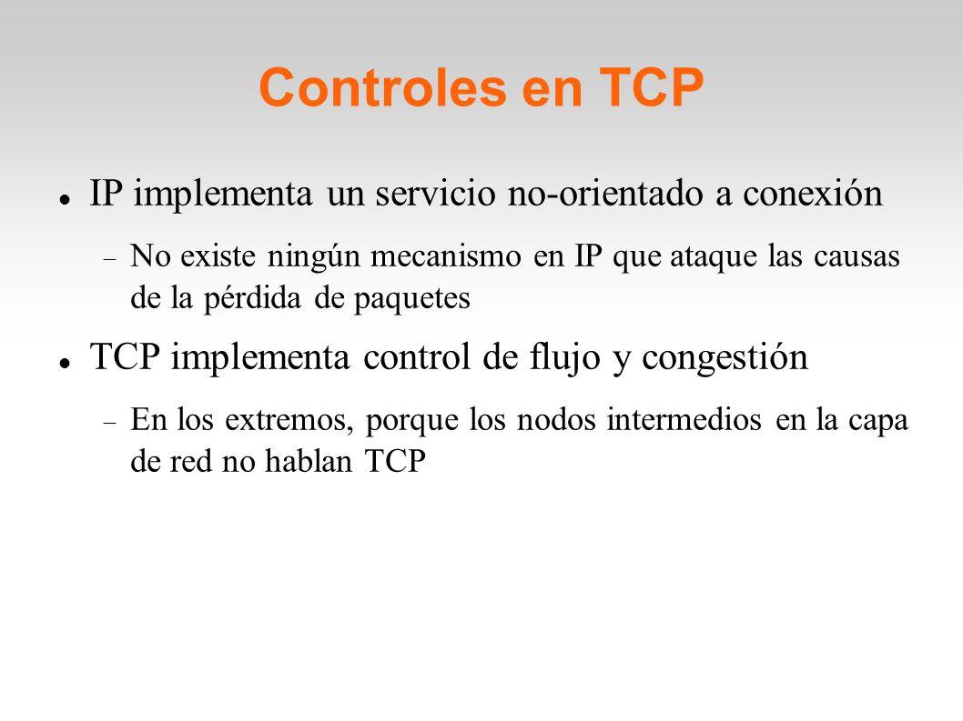 Controles en TCP IP implementa un servicio no-orientado a conexión