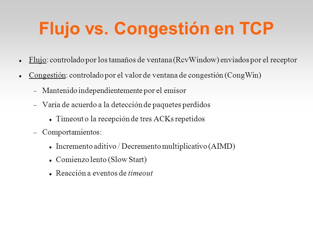 Flujo vs. Congestión en TCP