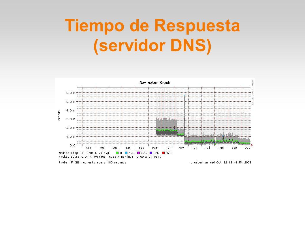 Tiempo de Respuesta (servidor DNS)