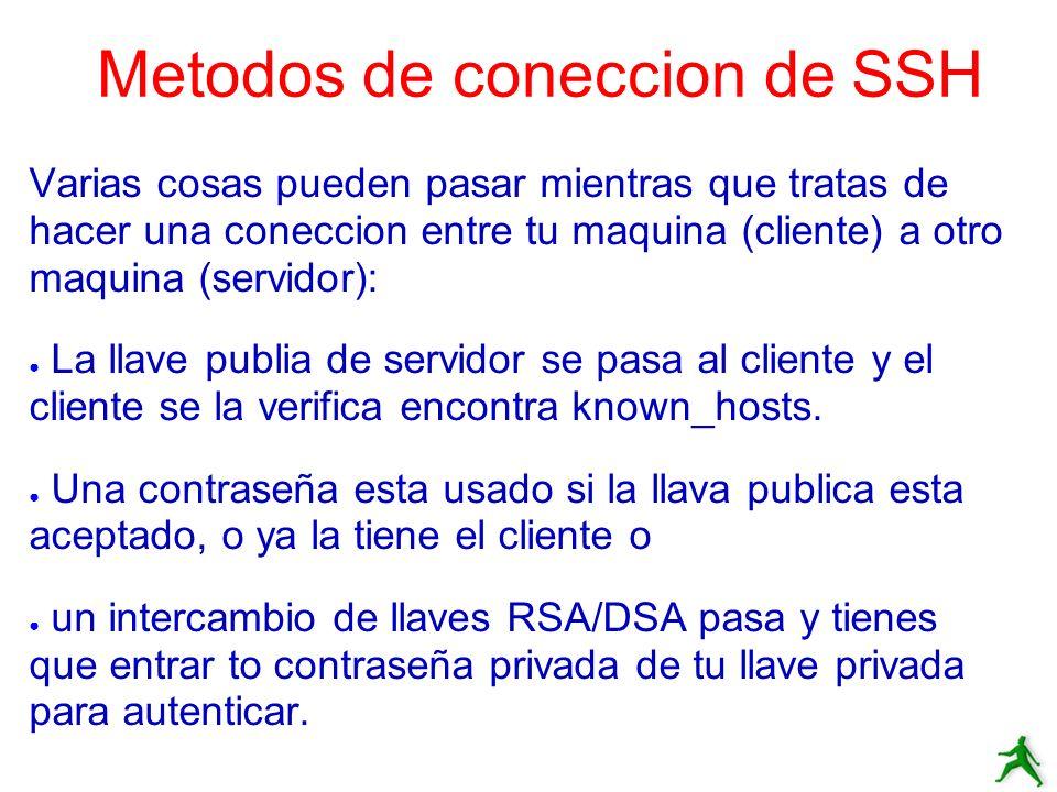 Metodos de coneccion de SSH