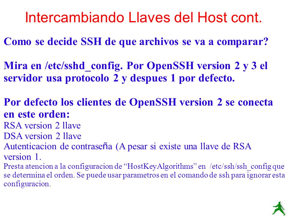 Intercambiando Llaves del Host cont.