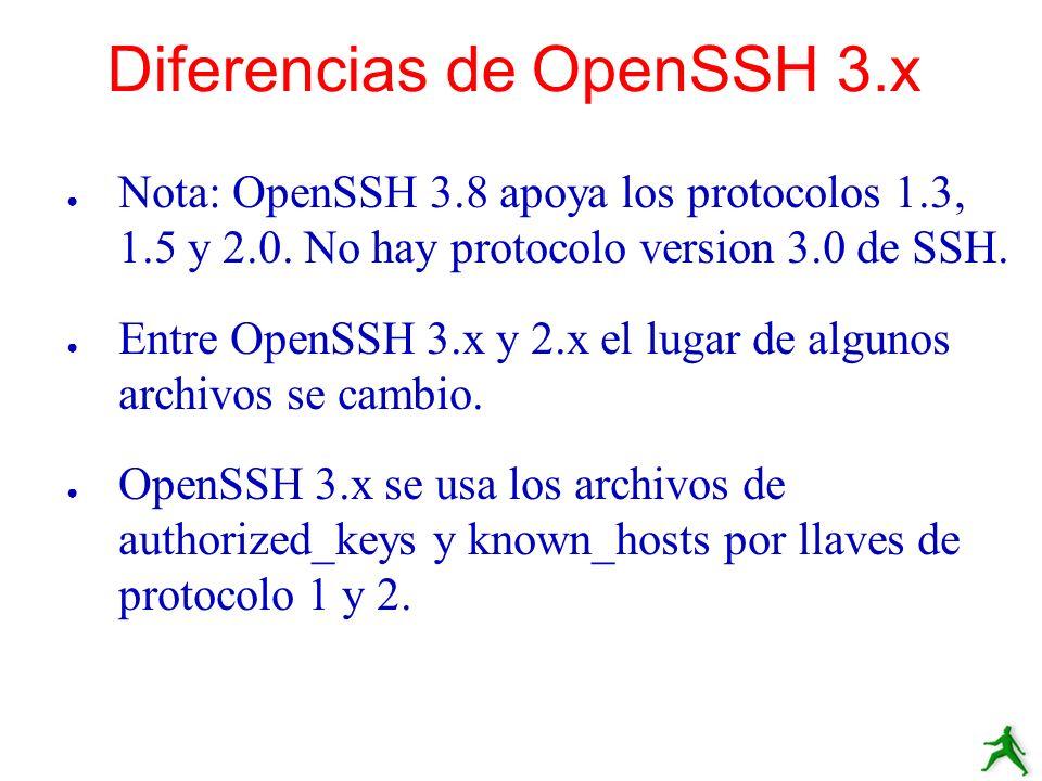 Diferencias de OpenSSH 3.x
