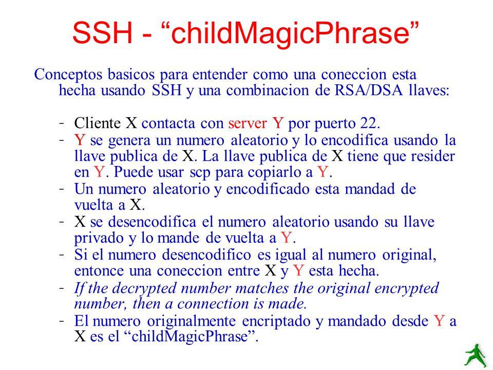 SSH - childMagicPhrase